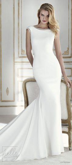 Simple Wedding Dresses Inspired by Meghan Markle | Bateau neckline sleeveless mermaid wedding Dress by La Sposa | Royal wedding sexy elegant bridal gown #weddingdress #weddingdresses #bridalgown #bridal #bridalgowns #weddinggown #bridetobe #weddings #bride #weddinginspiration #dreamdress #fashionista #weddingideas #bridalcollection #bridaldress #fashion #dress See more gorgeous bridal gowns by clicking on the photo