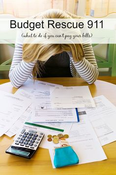Budget Rescue 911 | Like it or not, sometimes our budgets just get into trouble.  Strategies for when you can't pay all your bills...