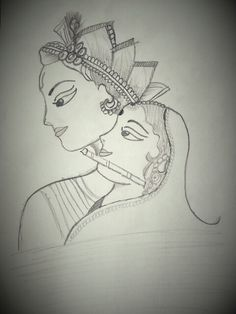 Radha Krishna | Drawingsketches And Paintings. | Pinterest | Krishna