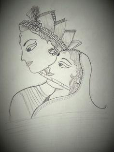 #Radha #Krishna Sketch by Purvi Patel