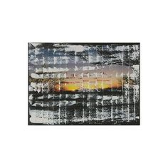 NOVICA Brazilian Color Sunset Acrylic on Canvas Collage (€190) found on Polyvore featuring home, home decor, wall art, paintings, expressionist paintings, black and white canvas painting, acrylic landscape painting, photo wall art, canvas paintings and landscape wall art