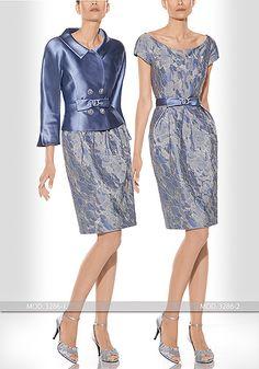 Vestido de madrina corto de Teresa Ripoll modelo 3286-1 y 3286-2