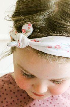 DIY Knot Bow Headband tutorial by Maddie Moes