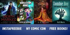 NY Comic Con Video Games Lovers Get Free Books  #instaFreebie #scifi Raventide Books Val O. Morris Justin Sloan