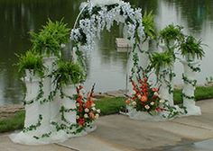 decorated arches for a wedding | ... Gardens is a lovely place for an outdoor wedding or a family picnic