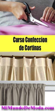 Como utilizar cortinas na decoração - Easy Crafts for All Diy Bay Window Curtains, Tab Curtains, Lined Curtains, Cortinas Country, Sewing Hacks, Sewing Projects, Sewing Collars, Easy Crafts To Make, Curtain Designs