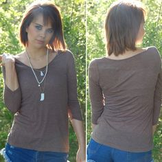 NWT Basic Brown Camel Layering Top This top is great to wear under vests or cardigans, or wear it by itself and add a fun statement necklace! It's really soft and lightweight. 🇺🇸Made in the USA🇺🇸 Paperback Boutique Tops Tees - Long Sleeve