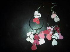 earrings made from paint chips