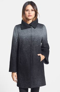 'Willow' Ombré Wool Blend Coat (Regular & Petite)