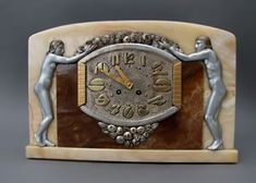 French Bronze Adam and Eve Clock