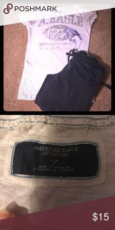 American eagle 🦅 tee shirt 💯 cotton great summer teeshirt American Eagle Outfitters Tops Tees - Short Sleeve