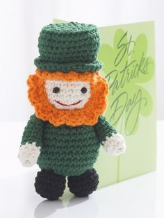 Lucky Leprechaun   Yarn   Free Knitting Patterns   Crochet Patterns   Yarnspirations.  FREE PDF 5/14.