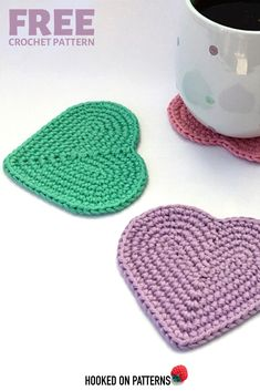 Free Heart Coaster Crochet Pattern Heart Coaster Crochet Pattern FREE from Ling Ryan Hooked On Patterns – This beautiful free crochet pattern is free to view on my website. Fun crafts coasters for summer Crochet Cozy, Crochet Quilt, Crochet Gifts, Crochet Stitches, Crochet Owls, Crochet Animals, Knitting Projects, Crochet Projects, Knitting Patterns