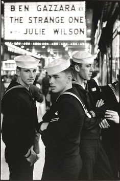 Sailors on leave in New York, 1958