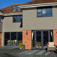 External Wall Cladding, Composite Cladding, House Cladding, Timber Cladding, Rear Extension, Extension Ideas, Cladding Ideas, Timber Planks, Front Porch Design