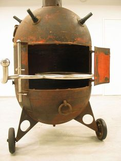 Steampunk Worthy Furniture Made From Naval Mine. sEstonian sculptor Mati Karmin, the sea mines are found off the coast of Estonia and transformed into eye-catching swings, charcoal grills, aquariums and armchairs.