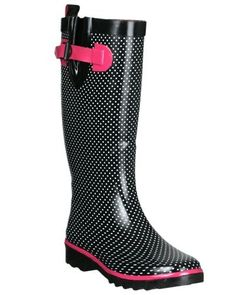 Capelli New York Ladies Shiny Tiny Single Color Dots Printed Ladies Sporty Rain Boot Capelli New York. $24.99. Waterproof Rubber. Made in China Outdoor Woman, Rubber Rain Boots, Calves, Sporty, Legs, Prints, York, Shoes, Color