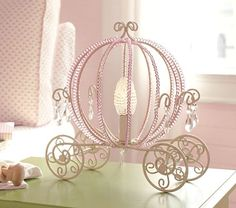 Pottery Barn Princess Beaded Carriage Table Lamp... no longer available.. but dang, it's cute!