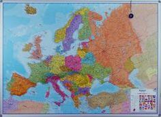 Europa kaart Maps International magneetbord