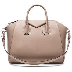 Givenchy Medium Sugar Antigona (€2.380) ❤ liked on Polyvore featuring bags, handbags, handbag purse, givenchy handbags, handle bag, brown handle bags and zip top bag