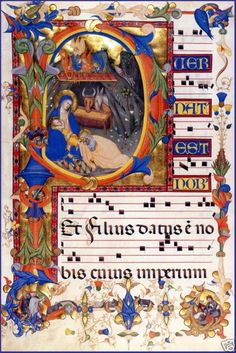 Choir Book: Nativity and the Annunciation in the Initial P, c. 1395  Don Silvestro dei Ghedarducci (1339 – 1399)