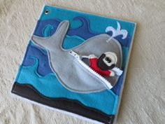 Christian Quiet Book - PDF Pattern Jonah and the Whale Bible Story Quiet by candidlykate, $3.00