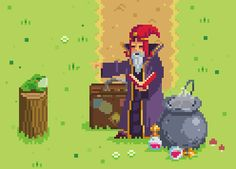 A wizard is never late…unless he forgets to pack his wand~ Another peak a my upcoming game Dashing Knight!