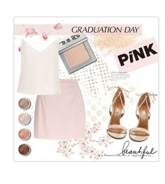 """""""Graduation day"""" by dittetr ❤ liked on Polyvore featuring Eve Lom, Urban Decay, River Island, Raey, Terre Mère, Aquazzura and vintage"""