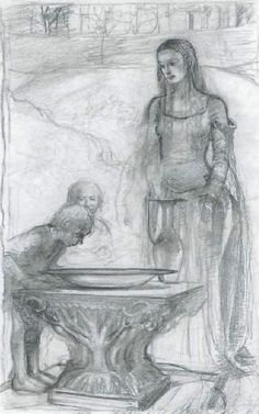The Lord of the Rings Sketchbook - by Alan Lee (Galadriel's mirror)