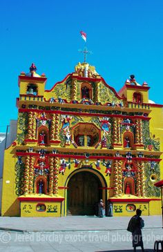A mix of Catholicism and Animism are widely practiced in Guatemala that produced the explosion of color and odd statues in this church high in the Guatemalan Highlands.