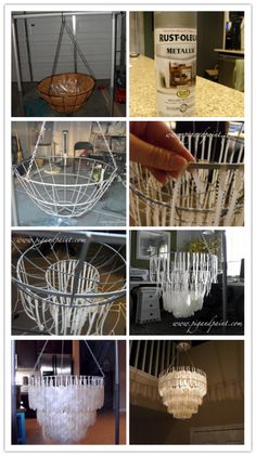 DIY Capiz Shell Chandelier Tutorial 2