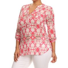 Shop for MOA Collection Women's Blue or Pink Polyester/Spandex Plus-size…