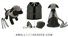 Grey Checked Harness, Lead and Matching Cap