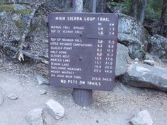 The John Muir Trail head Yosemite Valley