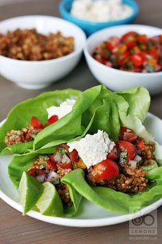 Taco Fiesta Recipe (raw, vegan gluten-free)  86lemons.com