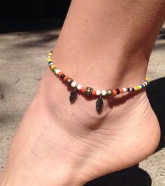 Ankle bracelet. Purple Turtle Ankle Bracelet by FireSpiritandSoul