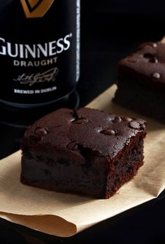 Guinness Dark Chocolate Brownies (I think I will add a dash of raspberry chambord!! CPS) ♥