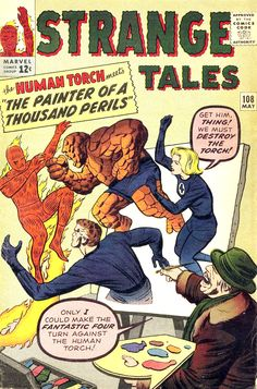 Strange Tales #108 Cover Art by Jack Kirby