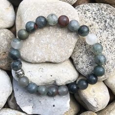 Bloodstone Healing Crystal Stretch Bracelet for Courage, Determination and Confidence Crystal Bracelets, Crystal Beads, Lucky Stone, Spiritual Jewelry, Chakra Bracelet, Crystals And Gemstones, Stretch Bracelets, Crystal Healing, Gifts For Women