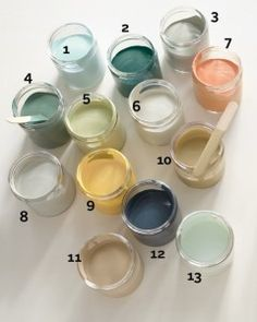 According to Martha, these are 18 go-with-everything, paint-anything, put-anywhere hues and projects that will work in any room.  Decorating by Color: - Martha Stewart
