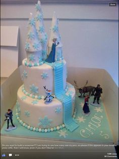 Frozen cake! Stairs......