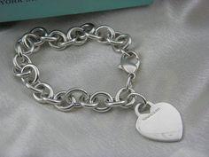 Tiffany & Co.  HEART TAG CHARM LINKS  BRACELET MINT.  #TiffanyCo