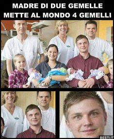 Madre di due gemelle