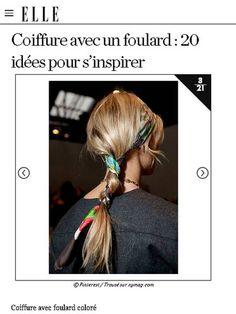 【ELLE】アイデア 2|速攻でトレンド感アップ! スカーフを使ったヘアアレンジアイデア20|エル・オンライン