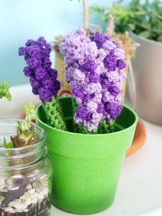 Mother's Day bouquet of crocheted lavender pen cozies!