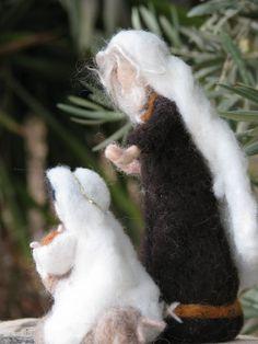Items similar to Needle felted Christmas nativity on Etsy Christmas Nativity, Felt Christmas, Wool Felt, Felted Wool, Baby Jesus, Little Babies, Shades Of Blue, Needle Felting, The Good Place