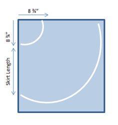 circle skirt calculation