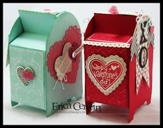 Stampin' Up! Valentines  by Erica Cerwin at Pink Buckaroo Designs: Artisan Design Team January- Teeny Tiny Mailbox