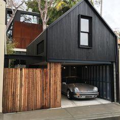 favd_porsche-phile-November 08 2016 at Garage Design, Exterior Design, House Cladding, Black House Exterior, House Goals, Prefab, Modern House Design, Modern Architecture, Building A House