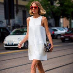 This season's hottest hues come in eggshell and alabaster boasting  pristine finishes that are perfect for summer #STYLEBOP   #allwhite #streetstyle #candelanovembre #pretty #dress #summer by stylebop